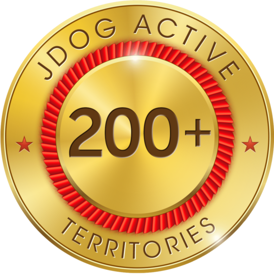 Over 200 Active JDog Territories